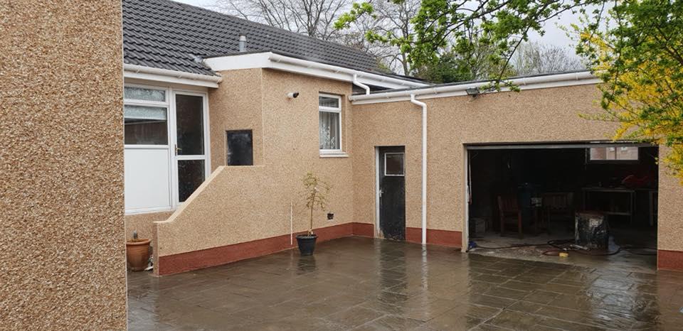 bungalow roughcast Glasgow